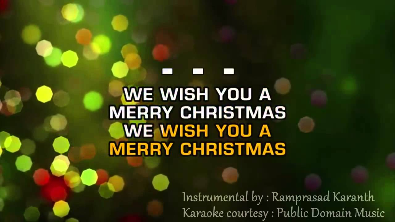 We wish you a Merry Christmas Instrumental with lyrics - YouTube