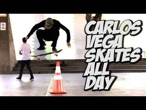CARLOS VEGA ALL DAY SKATE DAY !!!  - NKA VIDS -