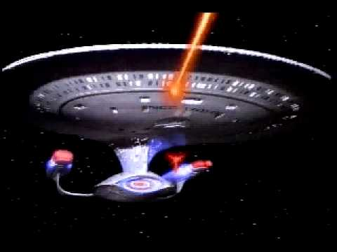 Enterprise-D fires phasers and photons
