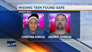 Missing Green Bay teen found safe