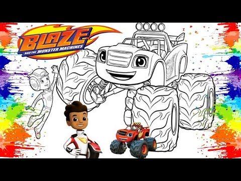 Video Infantil Blaze And The Monster Machines Como Pintar