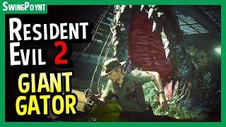 Resident Evil 2 Remake - The GIANT Alligator / Crocodile - (Resident Evil 2 Remake Gameplay)