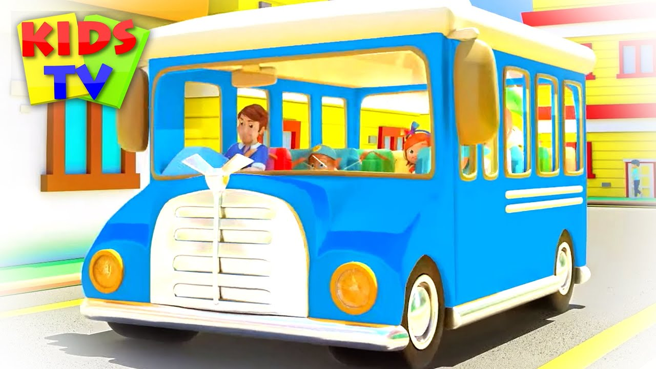 The Wheels on the bus go round and round | Kids Songs & Nursery Rhymes for Babies | Junior Squad
