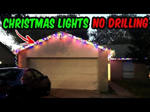 How to install Christmas Lights No holes or nails Outdoor wall 2017 ...