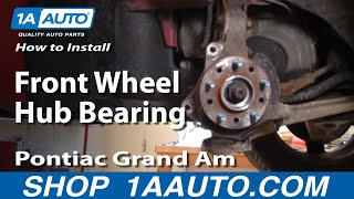 how to install replace front wheel hub bearing gm front wheel drive part 1 buy auto parts 1aauto co