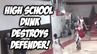 Gambar cover HS Senior, Kevin McClain DESTROYS Defender with an INSANE POSTER DUNK #SCTop10