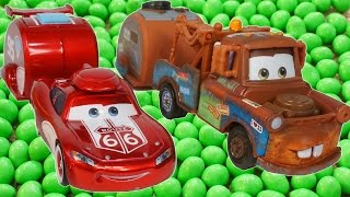 Download Lightning Mcqueen and Mater Find Magic Beans!!! Funny Cars Toon Candy Mp3 and Videos
