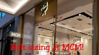 Custom belt sizing at MCM Store