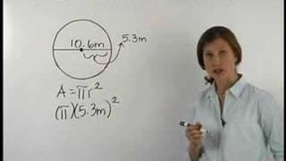 area of a circle mathhelp com math help