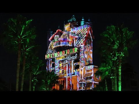 Christmas Things At Disneys Hollywood Studios!  Holiday Projection Show, Fireworks & More!
