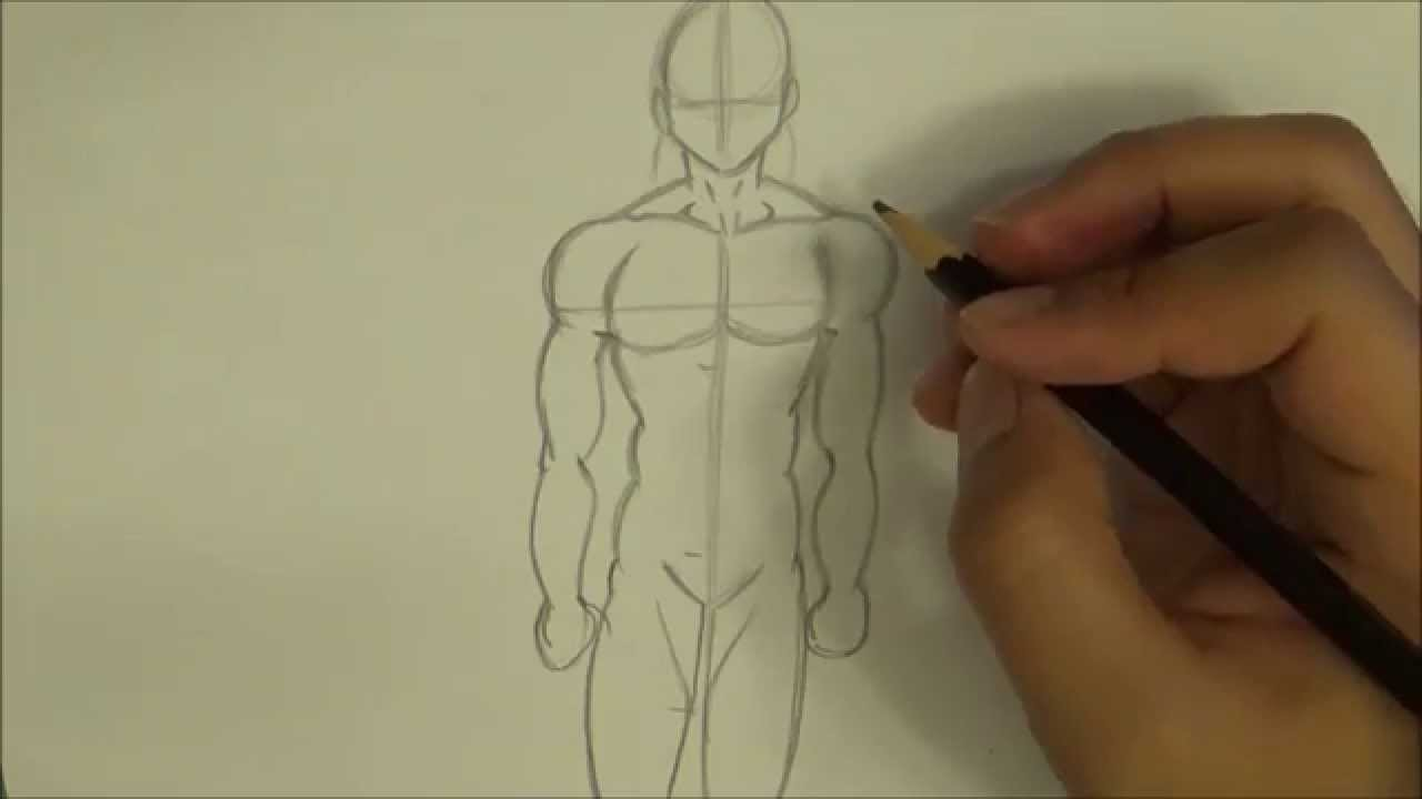 How to draw manga male figure for beginners