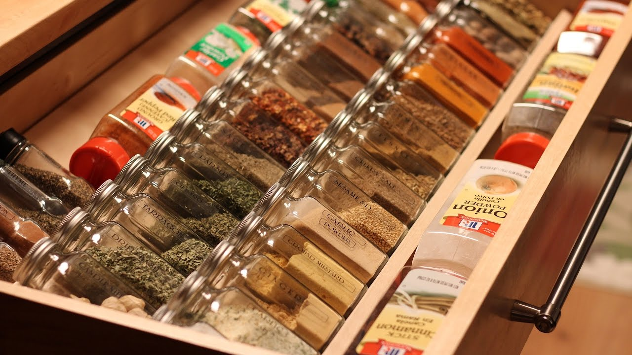 Spice Rack In Drawer Spice Rack - Youtube