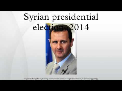 Syrian presidential election, 2014