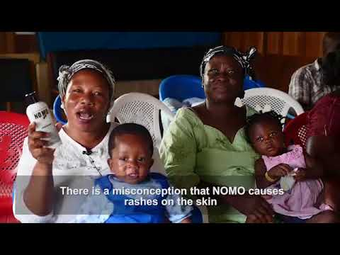 NO MO Foundation repellent protecting children and adults from malaria