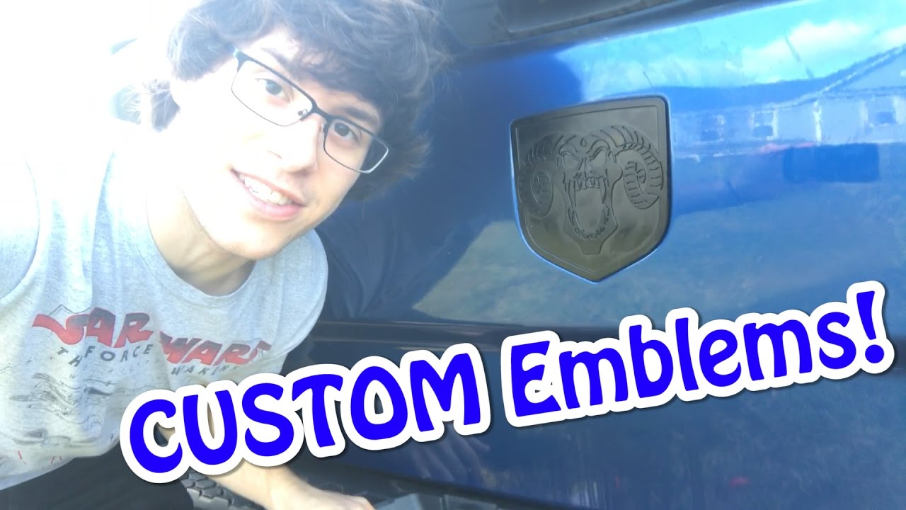 This was FRUSTRATING! Custom Emblems! - RAM 1500 Build