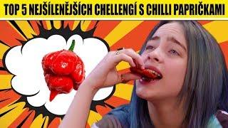TOP 5 nejšílenějších chellengí s CHILLI PAPRIČKAMI + SOUTĚŽ