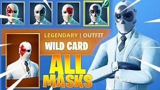 FORTNITE WILD CARD ALL MASK STYLES (High Stakes Mode Skin) Review
