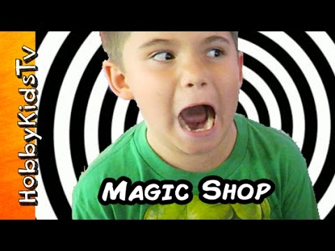 Trick Shop Pranks + Illusions! Amazing Tricks, How'd He Do That? HobbyKidsTV