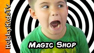 MAGIC Shop Pranks + Illusions! Amazing Tricks by Magician HobbyKidsTV