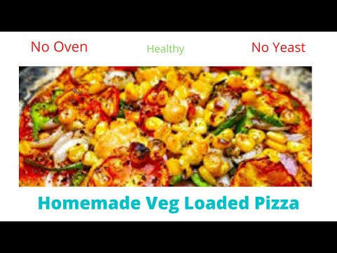 Healthy Veg Loaded Pizza