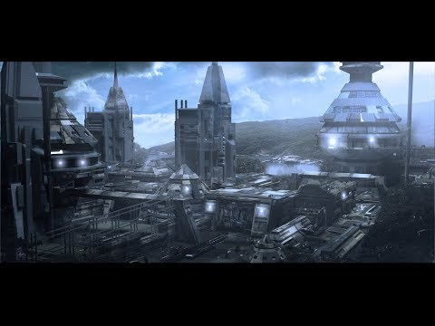 matte painting speed tutorial 3ds max and photoshop sci fi office