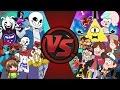 UNDERTALE vs GRAVITY FALLS! TOTAL WAR!  (Sans vs Bill Cipher 3) Cartoon Fight Club Episode 162