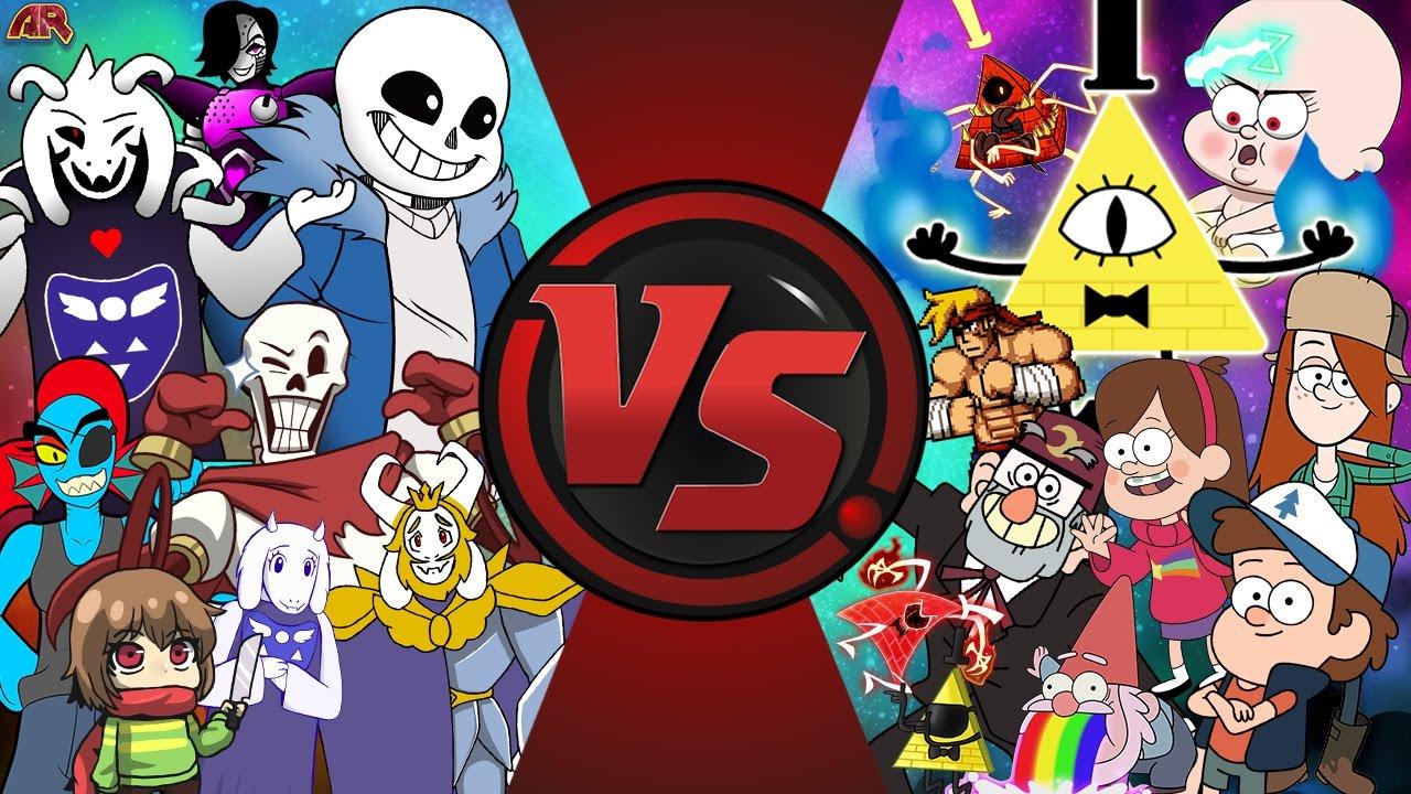 Gravity Falls Dipper And Mabel Wallpaper Undertale Vs Gravity Falls Total War Sans Vs Bill