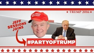 Trump's Convention Featuring Jeff Sessions Free HD Video
