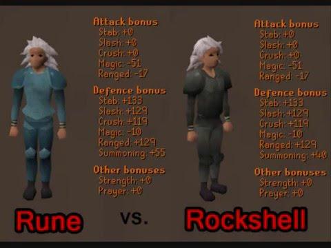 Rune Vs Rockshell Armour Youtube