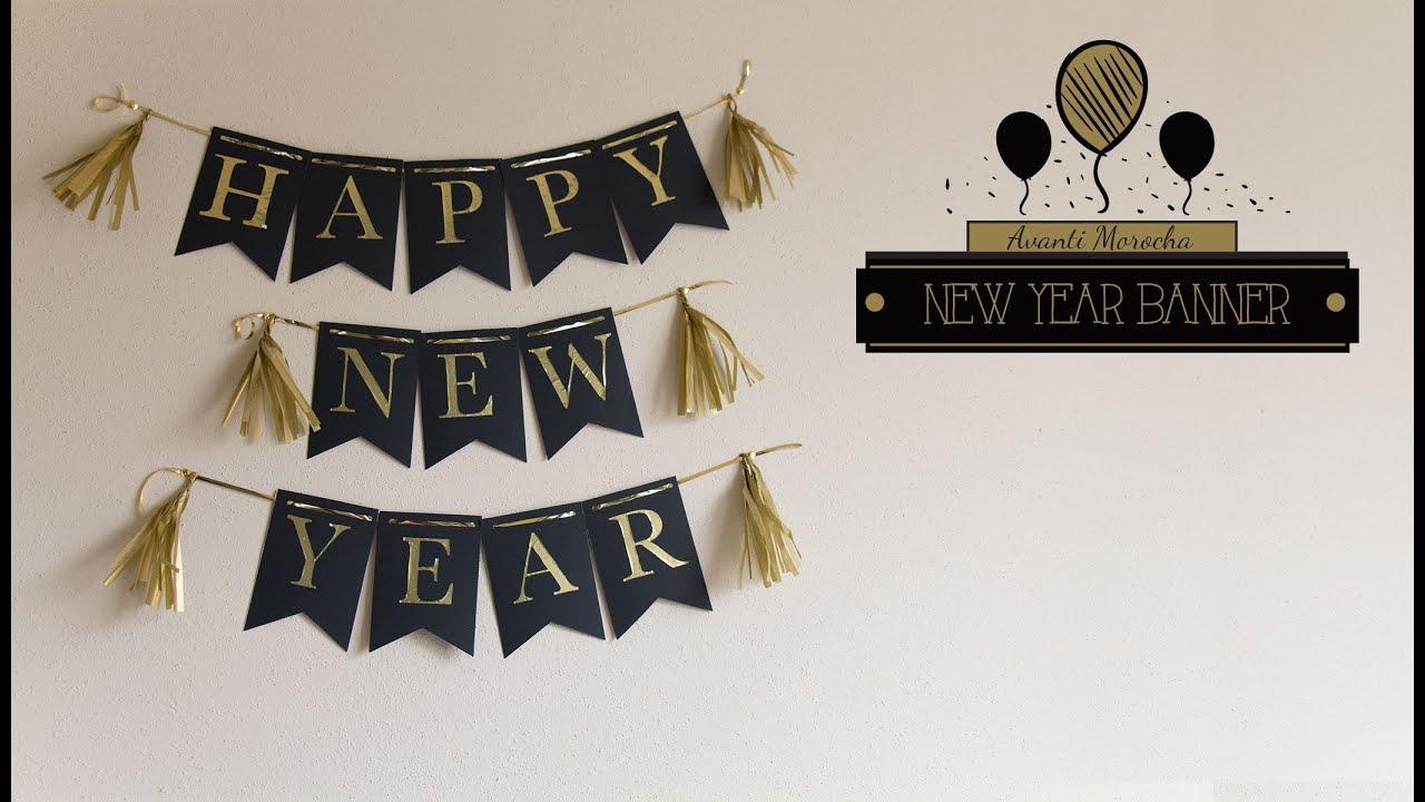 diy new year banner banderin de ao nuevo