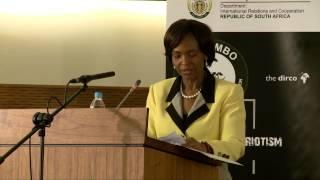 2  Keynote Address  Minister Maite Nkoana Mashabane