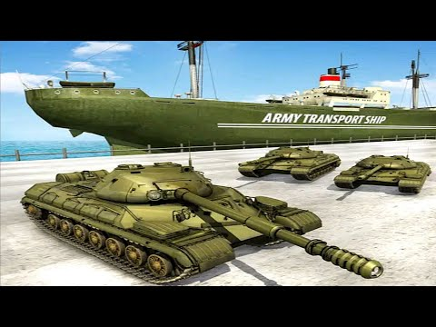 US Army Cruise Ship Tank Helicopter Transport Game - Android Gameplay