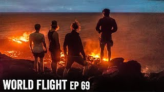 INCREDIBLE LAVA FLOW ADVENTURE! - World Flight Episode 69