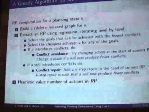 Improving Planning Performance Using Low-Conflict Relaxed Plans (ICAPS 2009)