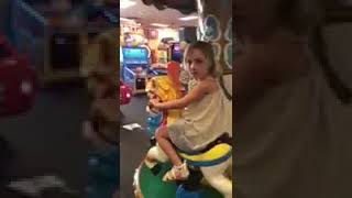 Harper loves Chuck E. Cheese
