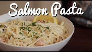 Smoked Salmon Pasta (cheap & Delicious!) - Crumbs