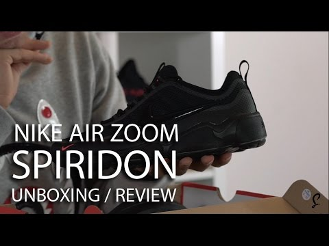4878df81ea35f Nike Air Zoom Spiridon Black Unboxing Review - YouTube