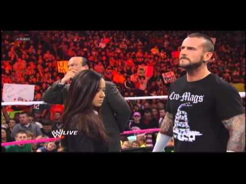 WWE Raw Cm Punk Paul Heyman AJ lee 24 Sept, 2012