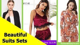 Top 50 beautiful suits, cheap suit sets for ladies S3
