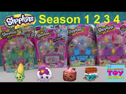Shopkins Season 1 2 3 & 4 | 12 Pack Opening | Toy Review | PSToyReviews