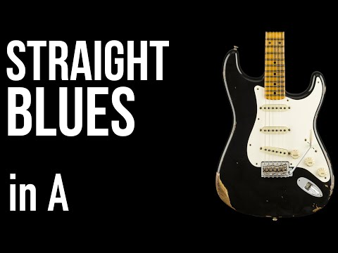 Straight Blues in A - Backing Track