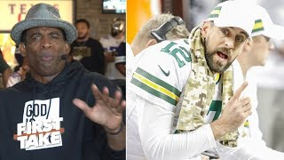 Can Aaron Rodgers get the Packers to the playoffs? Deion Sanders says 'no' | First Take
