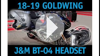 JM BT-04 Headset How-To-Link Series No 2402  ,, 18-19 Gold Wing