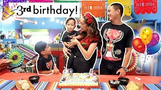 JULIAN'S 3RD BIRTHDAY PARTY! | Mel and Shane
