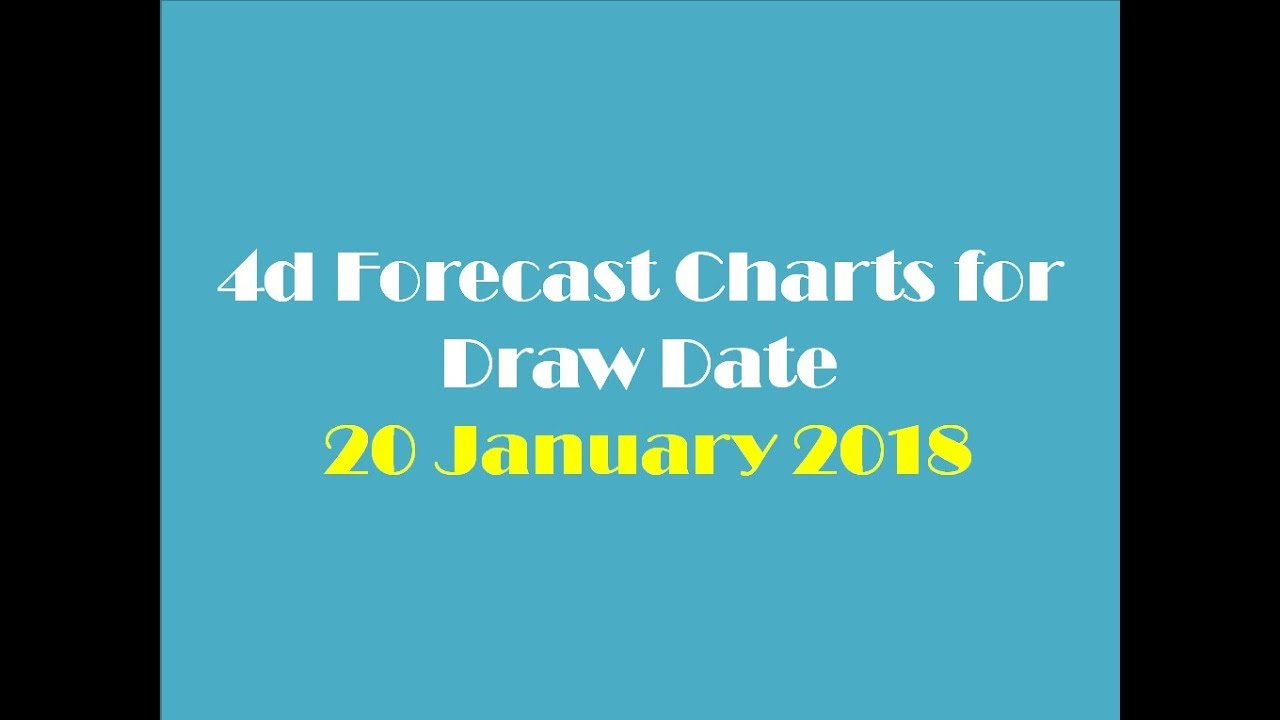 4d Forecast Charts for Draw Date 20 January 2018