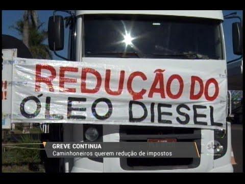 Greve continua: caminhoneiros querem redução de impostos