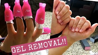HOW TO REMOVE GEL NAIL MANICURE AT HOME!! (Quarantine Edition)