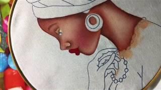 Pintura En Tela Africana # 1 Con Cony