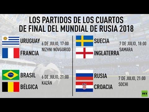 Así quedan los cuartos de final del Mundial de Rusia 2018