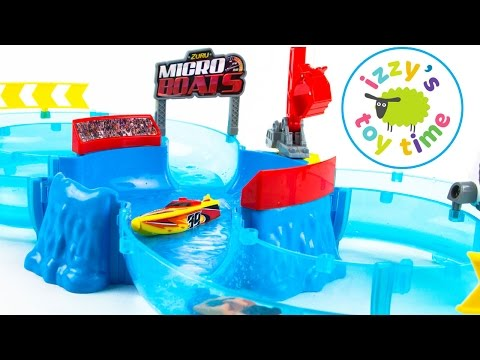 Toys  | Micro Boats And Little Tikes Waterpark Playset | Videos